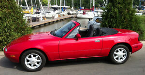 First year of production -- Mazda MX-5 Miata Convertible