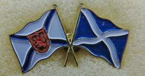 Nova Scotia Lapel Hat Pin With Flags 2 1/2 cm X 1 cm