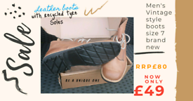 Brand New Vintage men's boots size 7