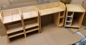 Full Size Office Desk and accompanying Units