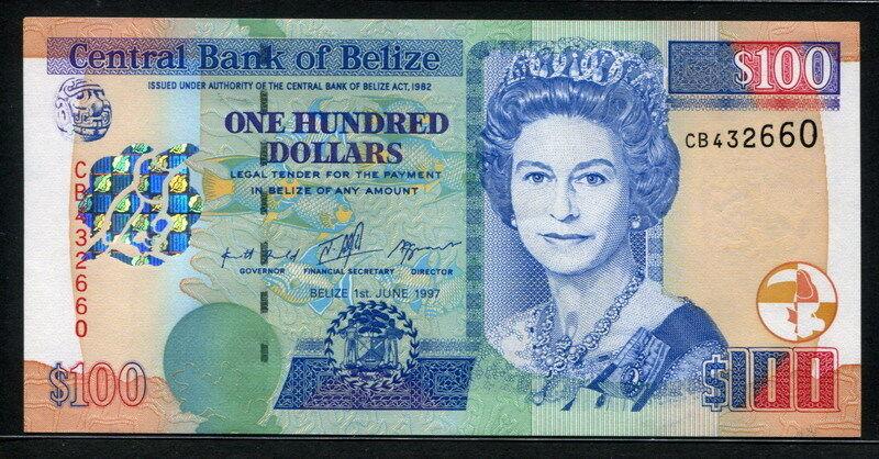 Belize 1997, 100 Dollars, CB432660, P65, UNC