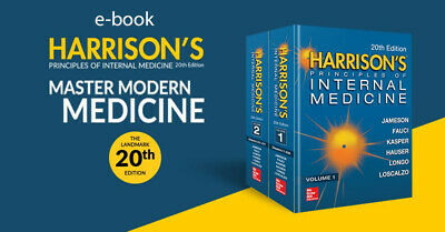 Harrison's Principles of Internal Medicine, 20th edition - immediate delivery