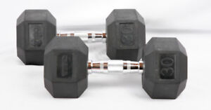 Dumbbells, two at  30 lbs. each, by TKO.    YES, it is available