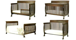 Shermag Preston Convertible Crib - WITH ALL  CONVERSION KITS!!