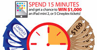 Win $1,000 and more!
