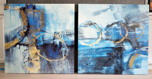 """Two Modern Art Canvas/Canvases - 36""""x36"""" each"""