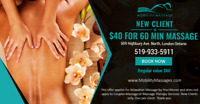 New Client $40 for 60 mins & Indian Head Massage