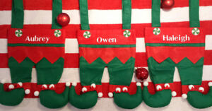 Personalized Elf Stockings❄⛄❄Perfect Christmas gift