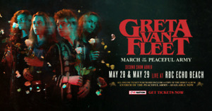 Greta Van Fleet tickets - May 28 - Toronto Echo Beach