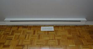 Plinthes chauffantes blanches (1250, 1500 et 2000 watts)