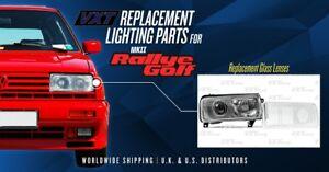 VXT Replacement Headlight Scheinwerfer Glass Lenses VW GOLF MK2 RALLYE G60 Pair