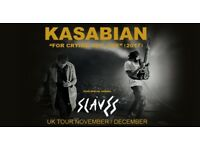 4x Kasabian standing tickets, First Direct Arena Leeds, Thursday 7th December 2017