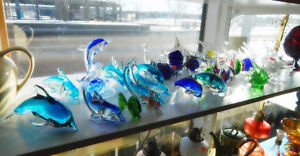 Vintage Art Glass - Paperweights, Chalet and much more!