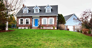 Quispamsis Cape Cod with Water Views & HUGE detached Garage