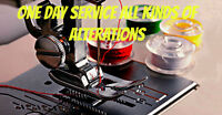 ONE DAY SERVICE ALL KINDS OF ALTERATIONS AND REPAIRS