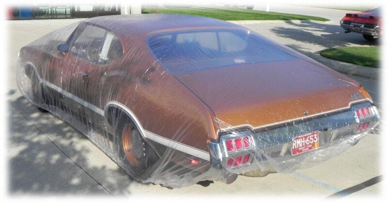 """FORD CAR 1932-1970  12x18/""""  plastic car cover rain car show 5 COVERS dust"""