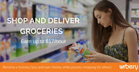 Earn upto $17/hour shopping and delivering groceries in Toronto!