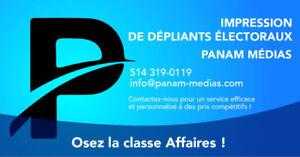 BROSSARD +1 (514) 319-0119 Pancarte électoral Coroplast