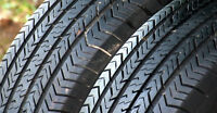 Set of 4 205/75/14 on 5 X 100 rims-Great for trailer AAA