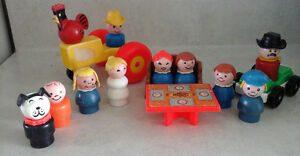 Vintage Fisher Price Little People and Accessories