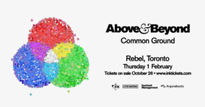 Above and Beyond Common Ground Tour. Feb. 1st!