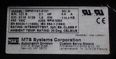 Mts Permanent Magnet Ac Servo Motor Mpm1141-2131 New