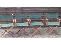 4 Retro Director chairs