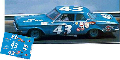 CD_2974 #43 Richard Petty 1962 Plymouth  1:25 Scale Decals    ~NEW~