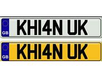 KHAN, KHAN UK - A VERY SPECIAL AND POPULAR ASIAN NAME ON A PRIVATE NUMBER PLATE FOR SALE
