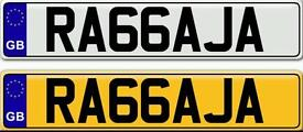 RAJA &RAJAH - A VERY SPECIAL ASIAN NAME ON A PRIVATE NUMBER PLATE FOR SALE