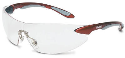 Uvex Ignite Safety Glasses With Metallic Red Frame And Clear Anti-fog Lens