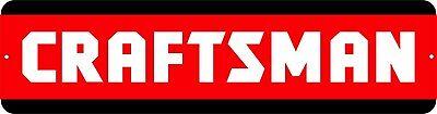 """Craftsman"" Mechanic Power Tools Toolbox Garage Shop Shed aluminum novelty sign"
