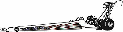 American Flag Race Jr. Dragster Side Graphics set Decal Decals Sticker NHRA IHRA