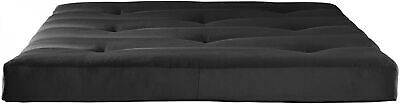 Black 6 Tufted Futon Mattress Soft Sofa Bed Couch W/ Sturdy Microfiber Cover (Couch Futon Mattress)