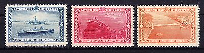1939 NEW YORK WORLD'S FAIR - EATON'S STATIONERY LABELS MINT NEVER HINGED