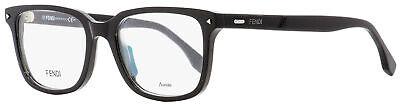 Fendi Rectangular Eyeglasses FF0220 807 Black 52mm (Fendi Eyeglasses Men)