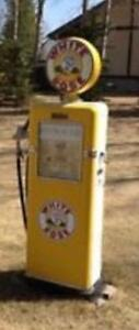 WHITE ROSE GAS PUMP ALL ORIGINAL PARTS REPRODUCTION GLOBE $2500 obo