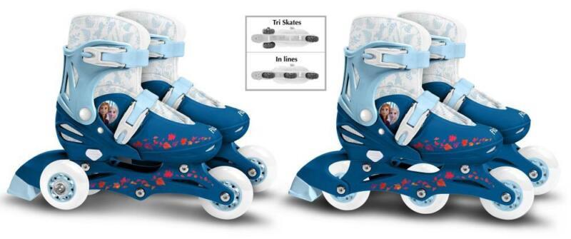 Kinder Inliner 2IN1 Inline Skates Rollschuhe Tri Skate Gr. 27-28-29-30 Frozen