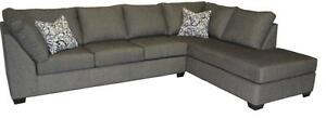 2PC FABRIC SECTIONAL CANADIAN MADE $899 ANY COLOUR
