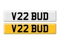 Private reg, V22 BUD