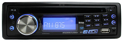 NEW BOSS AUDIO 637UA CD/MP3/AM/USB AUX In Dash Car Player Receiver Stereo Radio