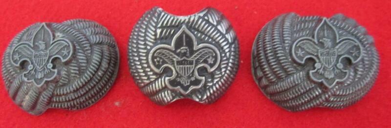 Lot Of 3 Vintage Boy Scout Neckerchief Slide Clips Boy Scouts Of America