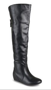 Black Angel Wide-Calf Over-the-Knee Boot