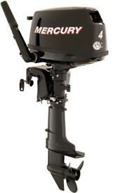 NEW!! Mercury 4HP Short Shaft, Tiller Control 4-Stroke Outboard Motor
