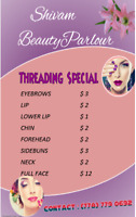 THREADING SPECIAL PARLOR