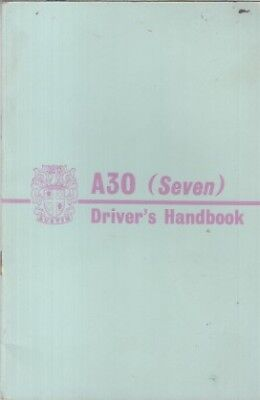 AUSTIN A30 2- & 4-DOOR SALOON (1951-56) OWNERS INSTRUCTION HANDBOOK