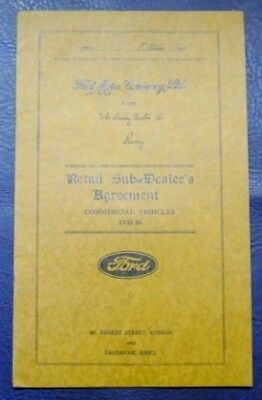 FORD RETAIL SUB DEALERSHIP AGREEMENT COMMERCIAL 1935-36