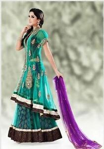 Women's indian outfits: Bollywood Gown Lengha Partywear