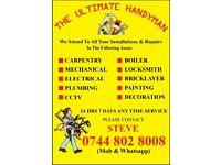 THE ULTIMATE HANDYMAN CHEAP #BOILER, ELECTRICIAN, CARPENTER, PLUMBER, REFURBISHING, CCTV/TV, PAINTER