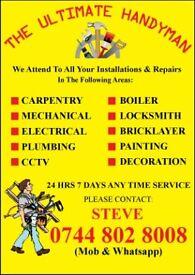 The Ultimate Handyman Cheap # Boiler, Electrician, Carpenter, Plumber, CCTV, Painter, Refurbishment